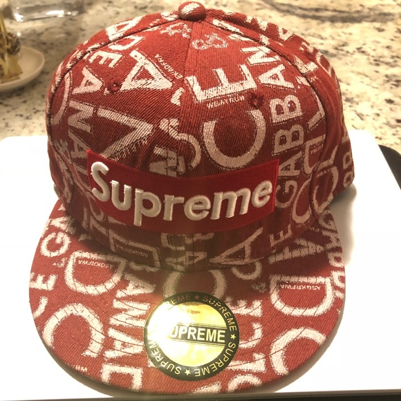 91f346f7d97 Adjustable hat with Supreme embroidery